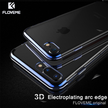 Buy FLOVEME Luxury Soft Phone Case iPhone X 7 8, Transparent Silicon iPhone 6 6s 8 7 Plus 10 Cases Ultra Thin iPone Cover for $3.49 in AliExpress store