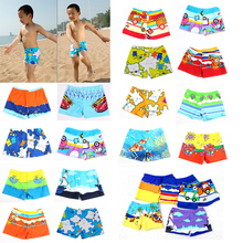 2017 Baby Kid Boy Trunk Swimming Pants Shorts Children Kids Swim Diving Wear Cartoon Ocean Style For 2-5T Boys Summer Swimsuit