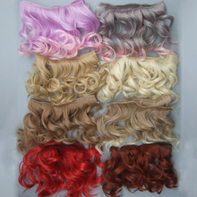 15cm curly wave wigs hair for doll  red white brown black color Hair Natural Color braided Wigs for BJD Doll hair