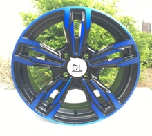 Nice Blue and Red Face 15x6.0 4X100 4X108 4x114.3 5X100 5x105 5x108 5X114.3 Car Alloy Wheel Rims(China)
