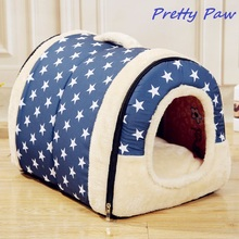 High Quality Dog House With Mat Hot Sale Foldable Pet Dog Bed Cat Bed House For Small Medium-Size Dogs Travling Pet Bed Bag(China)