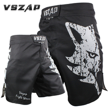 VSZAP Muay Thai explosion Fighting Wolf Durable fabrics Elastic crotch cheap mma shorts men cheap shorts(China)