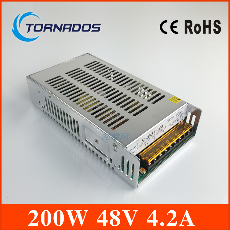 201W 48V 4.2A LED Light Devices Switching Power Supply AC-DC PSU  S-201-48<br>