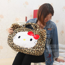 Hello Kitty Handbag Cute Cartoon Girls Plush Bag Single Shoulder Kawaii Casual Shopping bags Women Handbag Shoulder Bag