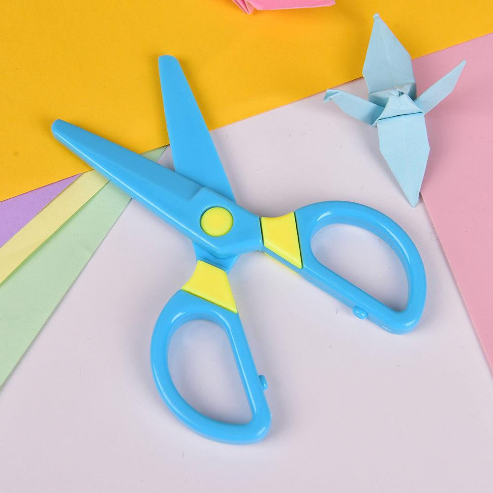 Scissors Peerless Plastic Safety Scissors Diy Handmade Cutting Paper Wallpaper Sscissors Gifts For Children Toy School Supply 125mm*60mm