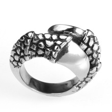 Wholesale Stainless Steel Bulk Buy From China Animal Head Model Men's Ring(China)