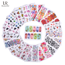 45 Sheet Mixed Design Unicorn/Flower/Butterfly Nail Art Water Transfer Sticker DIY Decor Tip Nail Manicure Decal BEWG246-290(China)
