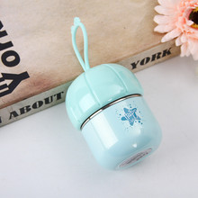 Cute Mushroom Style Mini Thermos Cup Stainless Steel water bottle coffee Mug Portable Travel Vacuum Cup 160ml Christmas Gift(China)