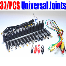 2 Set /37pcs New Universal AC DC Jack Charger Connector Plug for Laptop /Notebook AC DC Power Adapter with Cable Free Shipping(China)