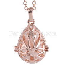 Partnerbeads Geometric Angel Lockets Plated Inlaid CZ Stone Stainless Steel Cage Prayer Box (exclude the ball) AC3766R
