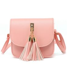 Fashion 2017 Small Chains Bag Women Candy Color Tassel Messenger Bags Female Handbag Shoulder Bag Women Bag  F40-845
