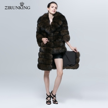 Thick Real Fox Fur Coat for Cold Winter(China)