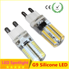 G9 led corn lamp AC220V 3014 7w 9w 10w 12W 2835LED Crystal Silicone Candle Replace 20-40W halogen lamps Christmas light bulb