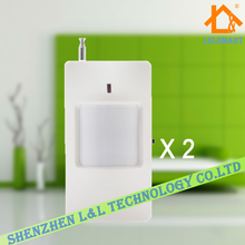 433MHz Wireless PIR Detector Motion Sensor Detector Security Accessory for GSM PSTN Home Alarm~2pcs/lot
