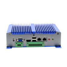 Embedded atom processor board D2550 fanless Mini PC 12V dc Power supply Industrial PC(China)