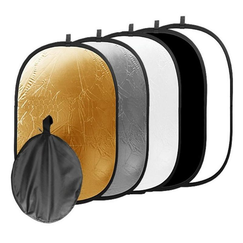 5 in 1 Oval Photography Light Reflector Foldable Photo Studio Supplies 16