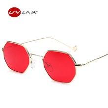 89771dea03db8c UVLAIK Rouge lunettes de Soleil Femmes Hommes Steampunk Style Vintage  Lunettes de Soleil Des Femmes En Métal Cadre Objectif Clai.