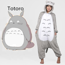 New 2017 Full Flannel Totoro Pijamas Pajamas Pyjamas For Womens Adult Onesies SleepWear Home For Clothing Plus Size AS XXL