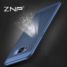 ZNP Heat dissipation phone hard Back PC Cases For Samsung Galaxy S8 S7 edge Full Cover Case For Samsung S8 S8 Plus Protect shell