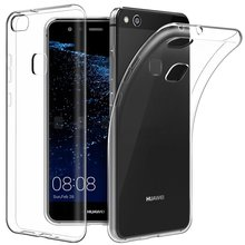 Soft TPU Crystal Silicone transparent protective Case Cover rubber bag for Huawei P10/P10 lite/P10 plus/P8 lite 2017/Honor V9