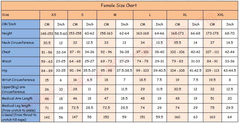 smt female size