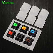 Vococal Acrylic Clear Mechanical Keyboard Tester Switches Key Cap 6-Axis Sampler Accessories Bundle Test Kit Set for Cherry MX