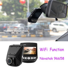 Car DVR WiFi APP Novatek 96658 Mini Hidden Cam Full HD1080P Sony IMX323 2.45inch LCD G-Sensor Video Recorder Dash Camera A305(China)