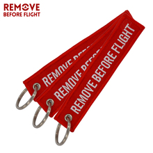 Remove Before Flight Aviation Gifts Key Tag Key Chain for Motorcycles Scooters and Cars Key Fobs OEM Keychain Jewelry 3 PCS/LOT(China)