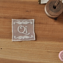 DIY accessories beige lace mesh embroidery Lei Sibu letter stickers (5.5cm) 0.8 yuan a(China)