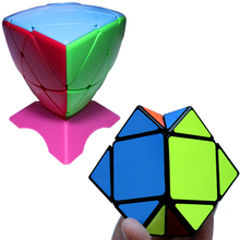 3x3x3 Colorful Rice Dumpling Magic Cube Game Square & Skew Cube Rubik Educational Speed Cubo Puzzle Toy for Kids Fidget Kubus