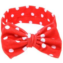 Girl Hair Band Dot Plaid Printing Hair Accessories For Girls Big Bowknot Stylish Headband Accesorios Para El Pelo #1031