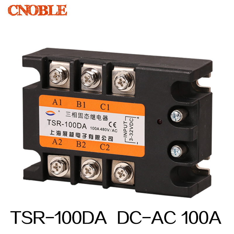 Three phase Solid state relay TSR-100DA 100A SSR Relay<br>