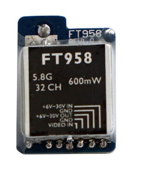 FT958 5.8ghz 600mw 32channels Mini FPV Racing Video Transmitter Quadcopter<br>