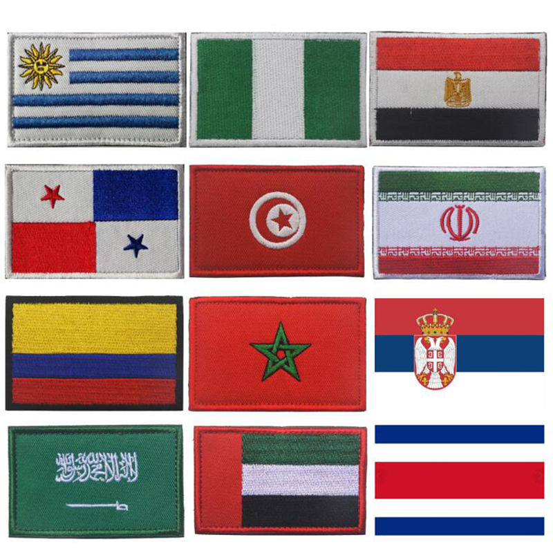 2018 World Cup Northern Europ Flags Nation Country Flag Embroidered Patch Badge