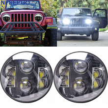 "For Land Rover 7 inch Round Head lamp 7"" Round H6014/H6024/H6017 6000K 80W Car offroad LED Projector 7"" Headlight for Jeep Jk(China)"