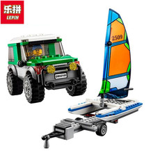 LEPIN City Great Vehicles 4x4 with Catamaran Building Blocks Sets Bricks Kids Model Kids Toys Marvel Compatible