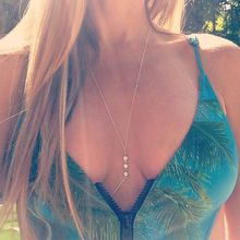 1 PC Women Crystal Crossover Harness Beach Necklace Body Waist Belly Chain