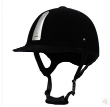 Professional Children Equestrian Horse Riding Helmet Black ABS Unisex Half Cover Safety Cap Riding Equipment