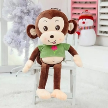 1PCS Long Legs Happy Monkey Dolls Soft Stuffed Plush Toys Baby Like Holiday Lovely Gifts Free Shipping YZT0050