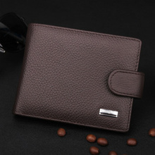 Vintage Men Wallets Luxury PU & Genuine Leather Purses Short Casual Male Card Holder Brand Wallet