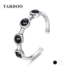 tardoo rings new arrival 925 sterling silver for women casual sporty cuff rings two color gemstone jewelry