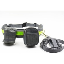Pets Running Dog Leash Padded Waist With Reflective Strip & Elastic Leash & Zipper Bag Mascotas Accesorios SS4