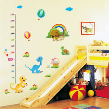 [Fundecor] diy home decor new child height growth measurements Wall Stickers cartoon dinosaur balloon decoration