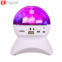 Party Disco DJ Bluetooth Speaker Built-In Light Show Stage Studio Effects Lighting RGB Color Changing LED Crystal Ball for party(China)