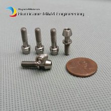 Bike Ti Bolt M4x15 for Ritchey C260 Stem Titanium bolts Washer Gr.5 Original Ti Color Cone Head Hexagon screw Ti fastener