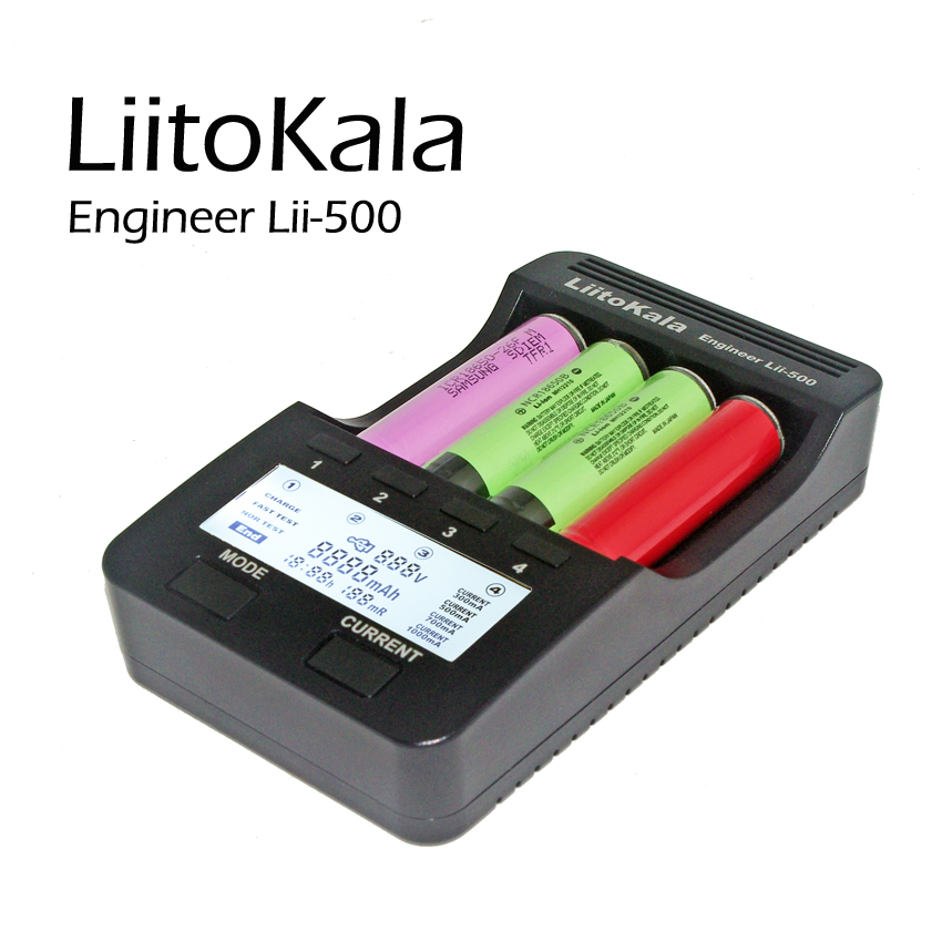 Liitokala Lii-500 NiMH Battery Charger,3.7V 18650 18350 18500 17500 10440 26650 1.2V AA AAA 5 V output LCD smart charger<br><br>Aliexpress
