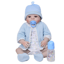 Sucking Pacifier Reborn Babies Boy Dolls 23'' 57 cm Realistic Looks Truly Russia Reborns Wear Dolls Clothes Kids Playmates Gifts
