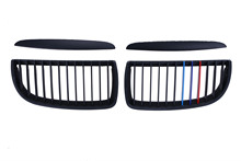 Matte Black M Color Front Kidney Grille Grills For BMW E90 E91 4-Door 3 Series 325i 328i 330i 335i C/5