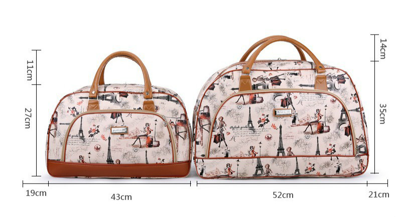 Suitcase woman travel bag Fashion canvas Large Capacity Waterproof Print Luggage Duffle Bag Casual Travel Bags