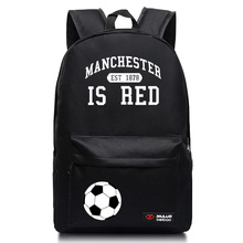 Fashion backpack Manchester is Red Manchester City Club school bags for men and women bags(China)